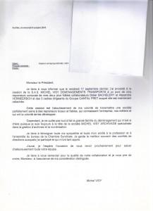 lettre Visy