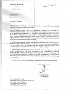 courrier du premier ministre